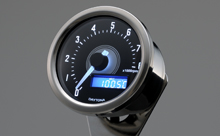 """VELONA"" ELECTRICAL TACHOMETER 8,000RPM, WHITE LED"