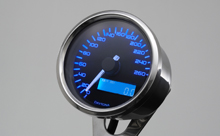 """VELONA"" ELECTRICAL SPEEDOMETER 260KMH(MPH), BLUE-LED"