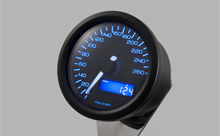"""DARK VELONA"" ELECTRICAL SPEEDOMETER 260KM/H(MPH), BLUE LED"