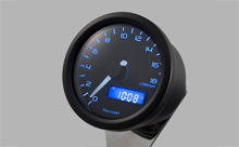 """DARK VELONA"" ELECTRICAL TACHOMETER 18,000RPM, BLUE LED"