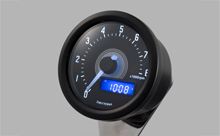 """DARK VELONA"" ELECTRICAL TACHOMETER 8,000RPM, WHITE LED"