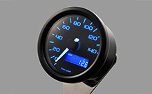 """DARK VELONA"" ELECTRICAL SPEEDOMETER 140KM/H(MPH), BLUE LED"