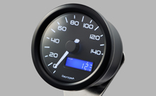 """DARK VELONA"" ELECTRICAL SPEEDOMETER 140KM/H(MPH), WHITE LED"