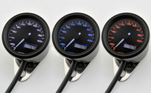 """VELONA48"" ELECTRICAL SPEEDOMETER 200KM/H(MPH), 3 COLOR LED"