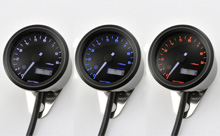 """VELONA48"" ELECTRICAL TACHOMETER 9,000RPM, 3 COLOR LED"