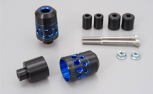 DUAL ANODIZED HANDLEBAR END, BLUE