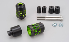 DUAL ANODIZED HANDLEBAR END, GREEN