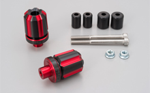 DUAL ANODIZED HANDLEBAR END, RED