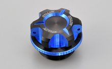 DUAL ANODIZED OIL FILLER CAP, BLUE