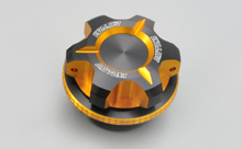DUAL ANODIZED OIL FILLER CAP, GOLD