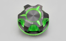 DUAL ANODIZED OIL FILLER CAP, GREEN