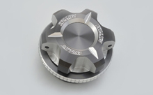 DUAL ANODIZED OIL FILLER CAP, SILVER