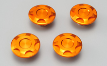 CNC CAP BOLT CAP, ORANGE